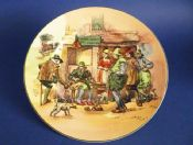 Royal Doulton Old English Scenes 'Roger Solemel Cobbler' Rack Plate after Hugh Thomson D6302 c1949